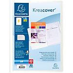 Protège documents soudé Exacompta Krea Cover Polypro 30 Pochettes A4 Blanc