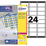 Étiquettes timbre Avery L7159 10 Blanc 63,5 x 33,9 mm 10 Feuilles de 24 Étiquettes