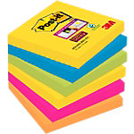 Notes adhésives Post-it 76 x 76 mm Assortiment - 6 Unités de 90 Feuilles