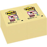 Notes adhésives Post it 76 x 48 mm Jaune   12 Unités de 90 Feuilles