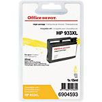 Cartouche jet d'encre Office Depot Compatible HP 933XL Jaune CN056E