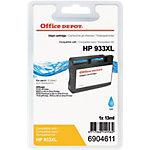 Cartouche jet d'encre Office Depot Compatible HP 933XL Cyan CN054E