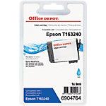 Cartouche jet d'encre Office Depot Compatible Epson 16XL Cyan