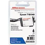 Cartouche jet d'encre Office Depot Compatible Epson 18XL Noir T181140