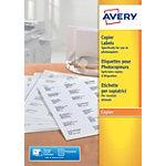 Étiquettes Avery DP027 100 Blanc 2700 étiquettes 100