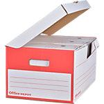 Boîtes d´archivage Office Depot 25,5 (H) x 54,5 (l) cm Blanc   10 Unités