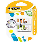 Gomme mini BIC Plast Office Blanc   2 Unités