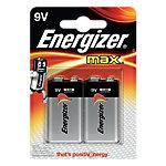 Piles alcalines Energizer Max 9V 2 Unités