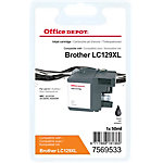 Cartouche jet d'encre Office Depot Compatible Brother LC129XL Noir