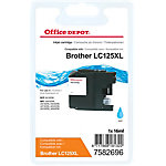 Cartouche jet d'encre Office Depot Compatible Brother LC125XL Cyan