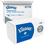 Kleenex® Essuie mains pliés Larges 6778   2 épaisseurs   15 unités de 124 feuilles