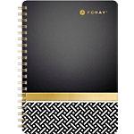Cahier à spirale Foray Elements A5 Ligné 160 pages   Noir, doré