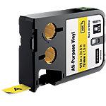 Ruban d'étiquettes industrielles DYMO XTL 12mm (L) x 7,5m (l) Noir, jaune