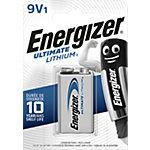 Piles lithium Energizer Ultimate 9V