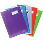 Protège documents soudé Exacompta Crystal Polypro 40 pochettes A4 Assortiment   6 Unités