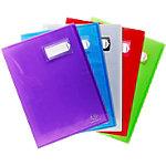 Protège documents soudé Exacompta Crystal Polypro 20 Pochettes pochettes A4 Assortiment   6 Unités