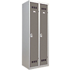 Vestiaire Industrie Propre 2 colonnes 600 x 500 x 1800 mm Gris, taupe
