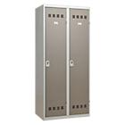 Vestiaire Industrie Salissante 2 colonnes 800 x 500 x 1800 mm Gris, taupe