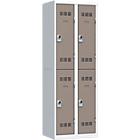 Vestiaires Multicases 2 colonnes 600 x 500 x 1800 mm Gris, taupe