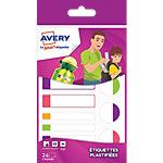 Etiquettes plastifiées Avery Smart A6 multicolores fluo 860 mm 24 Unités