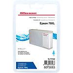 Cartouche jet d'encre Office Depot Compatible Epson 79XL Cyan