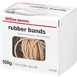 Élastiques en caoutchouc Office Depot 80 x 1,5 mm 50 mm Naturel   100 g