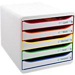Module de classement Dauphin Big Box Plus Classic 5 27,1 (H) x 27,8 (l) x 34,7 (P) cm Blanc Arlequin