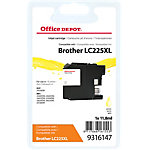 Cartouche jet d'encre Office Depot Compatible Brother LC225XL Jaune