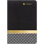 Cahier à couverture souple Foray A5 Elements Papier Noir, doré   80 Feuilles
