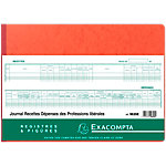 Registre Journal de recettes et dépenses Exacompta 110 g