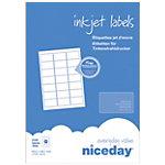 Étiquettes d'adresses Niceday Blanc 2100 étiquettes 100 feuilles de 21 étiquettes