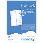 Boîte de 1400 Étiquettes laser Niceday arrondie 99,1x38,1