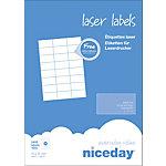 Étiquettes d'adresses Niceday Blanc 37 x 70 mm 100 Feuilles de 24 Étiquettes