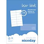 Étiquettes d'adresses Niceday Blanc 42 x 105 mm 100 Feuilles de 14 Étiquettes