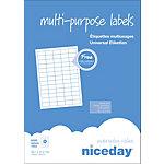 Étiquettes multifonctions Niceday 980459 Blanc 38,1 x 21,2 mm 100 Feuilles de 65 Étiquettes