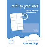 Étiquettes multifonctions Niceday 980468 Special format Blanc 105 x 57 mm 100 Feuilles de 10 Étiquettes
