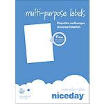 Étiquettes multifonctions Niceday 980472 A4 Blanc 210 x 297 mm 100 Feuilles de 1 Étiquette
