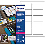 Cartes de visite Avery Quick and Clean 270 g