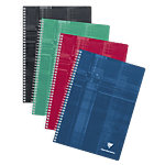 Clairefontaine Cahier double spirale METRIC A4 Grands carreaux Séyès Assortiment   90 Feuilles