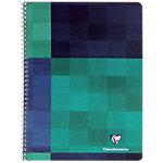 Cahier à spirale Clairefontaine A5+ 5 x 5 Noir, vert   50 Feuilles
