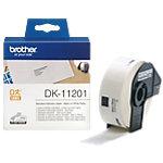 Ruban d'étiquettes Brother DK 11201 29 x 90 mm Blanc   400 Étiquettes