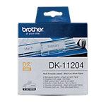 Ruban d'étiquettes Brother DK 11204 17 x 54 mm Blanc   1 Unités de 400 Étiquettes
