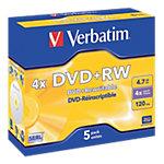 DVD RW réinscriptible Verbatim 4.7 Go 4x 5 Unités