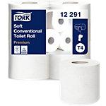 Rouleaux de papier toilette Tork Premium gaufré T4 2 épaisseurs   48 Rouleaux de 198 Feuilles