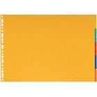 Intercalaires Exacompta A3 6 couleurs 5 intercalaires Perforé Carte lustrée 5