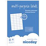 Étiquettes multifonctions Niceday 4243545 Blanc 4000 étiquettes 100