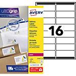 Étiquettes d'adresses Avery L7162 250 Blanc 33,9 x 99,1 mm 250 Feuilles de 16 Étiquettes