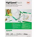 Pochettes de Plastification GBC Brillant 2 x 125 (250) µm Transparent 100 Unités
