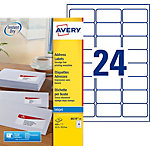 Étiquettes d'adresses AVERY Zweckform J8159 25 Blanc 600 étiquettes 25