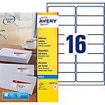Étiquettes d'adresses AVERY Zweckform J8162 25 Blanc 400 étiquettes 25